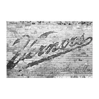 Ann Arbor Michigan Vernors Brick Wall 1999 Canvas Print