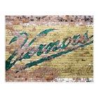 Ann Arbor Michigan Vernor's Brick Wall Vintage Postcard