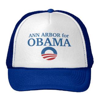 ANN ARBOR para el personalizado de Obama su ciudad Gorros