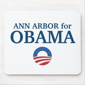 ANN ARBOR para el personalizado de Obama su ciudad Alfombrillas De Ratón