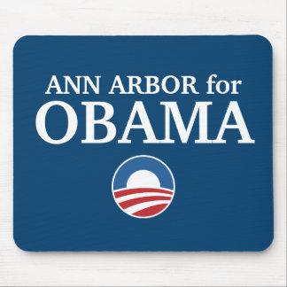 ANN ARBOR para el personalizado de Obama su ciudad Tapetes De Ratones