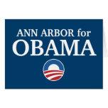 ANN ARBOR para el personalizado de Obama su ciudad Felicitación