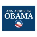ANN ARBOR para el personalizado de Obama su ciudad Postales
