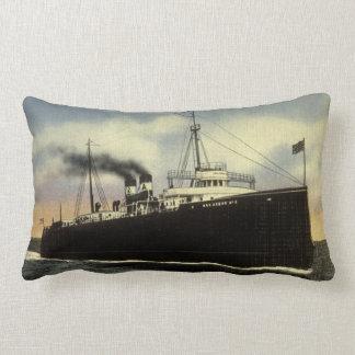 Ann Arbor Railroad Car Ferry Number 6 Great Lakes Lumbar Pillow