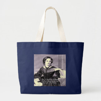 """Ann Bronte """"Rose Thorn"""" Wisdom Quote Gifts & Cards Large Tote Bag"""
