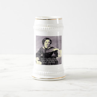 """Ann Bronte """"Rose Thorn"""" Wisdom Quote Gifts & Cards 18 Oz Beer Stein"""