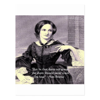"""Ann Bronte """"Rose Thorn"""" Wisdom Quote Gifts & Cards Postcard"""