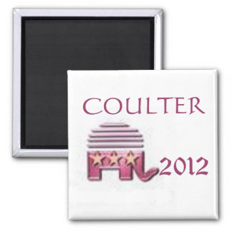 Ann Coulter 2012 2 Inch Square Magnet