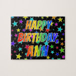 "[ Thumbnail: ""Ann"" First Name, Fun ""Happy Birthday"" Jigsaw Puzzle ]"