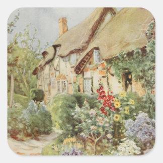 Ann Hathaway's Cottage II, Stratford-upon-Avon, En Square Sticker
