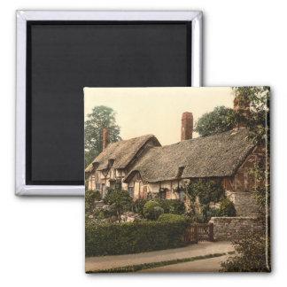 Ann Hathaway's Cottage, Stratford-on-Avon, England 2 Inch Square Magnet