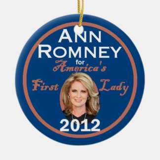 ANN ROMNEY CERAMIC ORNAMENT