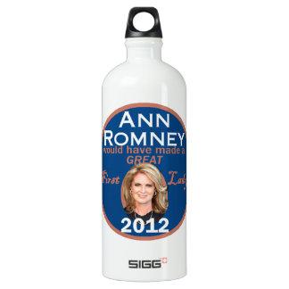 Ann Romney First Lady Aluminum Water Bottle