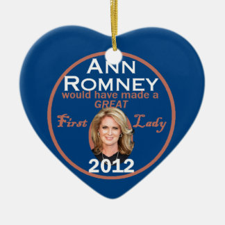 Ann Romney First Lady Christmas Ornament