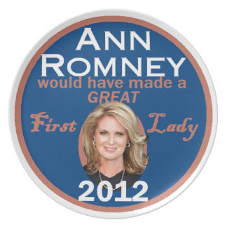 Ann Romney First Lady Melamine Plate