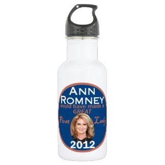 Ann Romney First Lady Stainless Steel Water Bottle