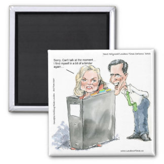 Ann Romney In A Binder Funny Gifts Tees & Cards Magnet