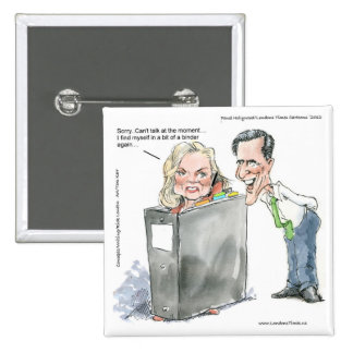 Ann Romney In A Binder Funny Gifts Tees & Cards Pinback Button