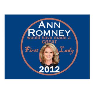 Ann Romney Postcard