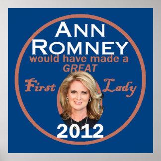 Ann Romney Poster