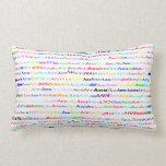 Ann Text Design II Lumbar Pillow