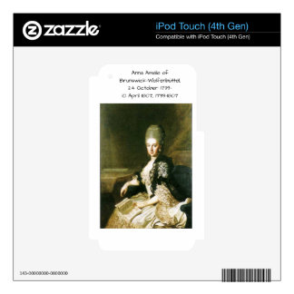 Anna Amalia of Brunswick-Wolfenbuttel 1739-1807 Decal For iPod Touch 4G