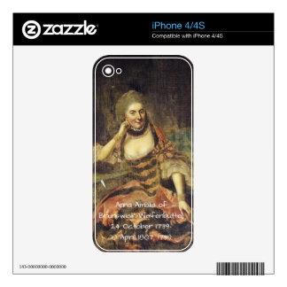 Anna Amalia of Brunswick-Wolfenbuttel 1739 Decal For The iPhone 4S