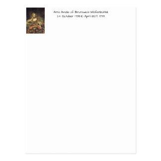 Anna Amalia of Brunswick-Wolfenbuttel 1739 Postcard
