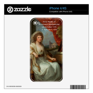 Anna Amalia of Brunswick-Wolfenbuttel 1788 Decal For The iPhone 4S