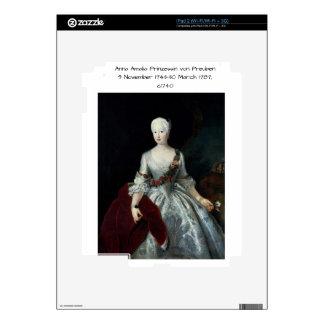 Anna Amalia Prinzessin von Preuben c1740 iPad 2 Skin