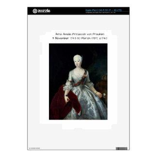 Anna Amalia Prinzessin von Preuben c1740 iPad 3 Skin