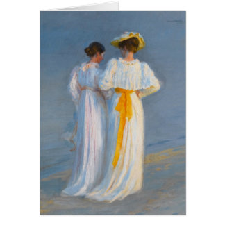 Anna Ancher and Marie Krøyer on the beach - Krøyer Card