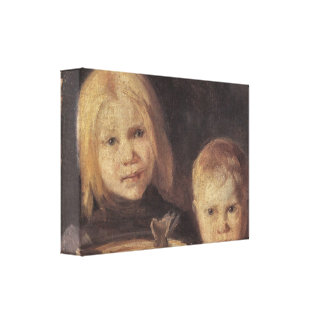 Anna Ancher - Elise und S°ren Gallery Wrapped Canvas