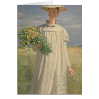 Anna Ancher returning from Flower Picking, 1902 Card