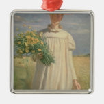 Anna Ancher returning from Flower Picking, 1902 Christmas Ornaments