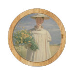 Anna Ancher returning from Flower Picking, 1902 Round Cheese Board