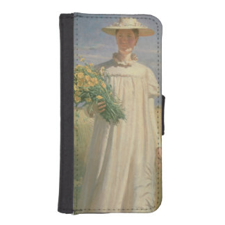 Anna Ancher returning from Flower Picking, 1902 iPhone 5 Wallets