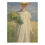 Anna Ancher returning from Flower Picking, 1902 Postcards