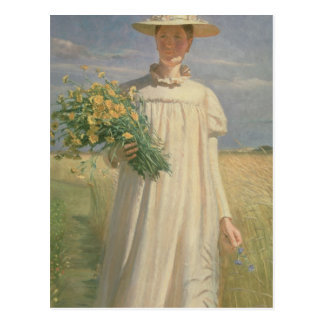 Anna Ancher returning from Flower Picking, 1902 Postcard