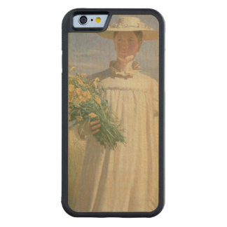 Anna Ancher returning from Flower Picking, 1902 Carved® Maple iPhone 6 Bumper
