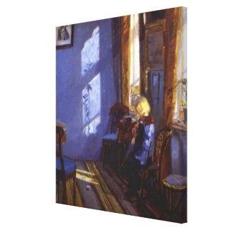 Anna Ancher's Sunshine in the Blue Room Canvas Print