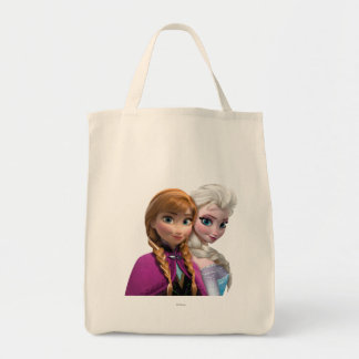 Anna and Elsa Grocery Tote Bag