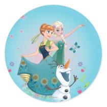 Anna and Elsa | Celebrate Sisterhood Classic Round Sticker
