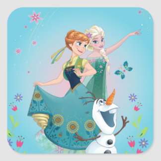 Anna and Elsa   Celebrate Sisterhood Square Sticker