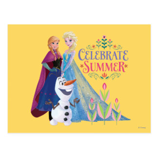 Anna and Elsa | Celebrate Summer Postcard