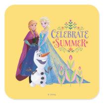 Anna and Elsa | Celebrate Summer Square Sticker