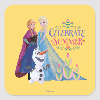 Anna and Elsa   Celebrate Summer Square Sticker