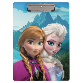 Anna and Elsa Clipboards