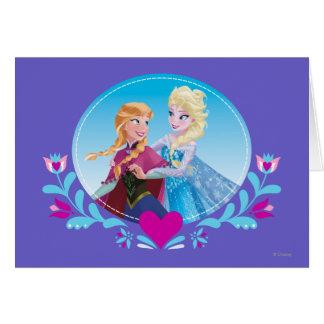 Anna and Elsa   Embracing Card