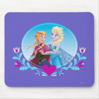 Anna and Elsa | Embracing Mouse Pad